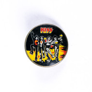 KISS Button - Vintage Destroyer Art