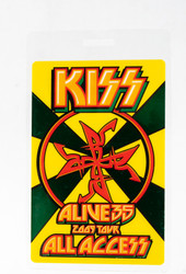 KISS Laminate - Alive 35 2009 tour All Access, YELLOW