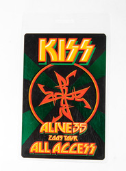 KISS Laminate - Alive 35 2009 tour All Access, GREEN