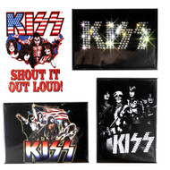 KISS Magnets - Rectangular, set of 4.