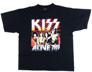 KISS T-Shirt - Alive 35 yellow logo, (size XL)