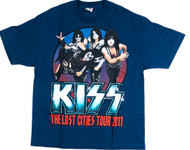 KISS T-Shirt - Lost Cities spiral tourdates, (size XL)