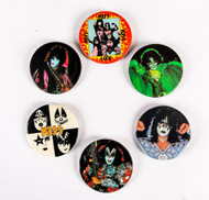 KISS Buttons - Australia 1980, set of 6