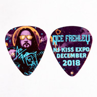 KISS Guitar Pick - Ace Frehley NJ KISS Expo 2018, VIP blue