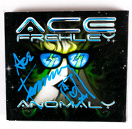 KISS Autograph - Ace Frehley Anomaly CD, (blue pen)