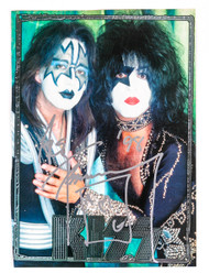 KISS Autograph - Ace Frehley, magazine page w/Ace & Paul