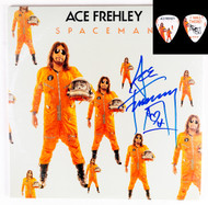 KISS Autograph - Ace Frehley Spaceman LP, orange vinyl, (plus bonus pick)