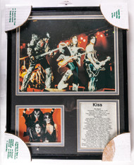 KISS Framed Photo with discography, Live