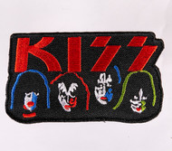 KISS Patch - Solo Faces Logo, (3.5 inch)