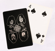 KISS Playing Cards - Silver on Black
