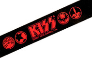 KISS Wrist Band - Red/Black ID