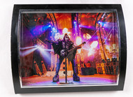 "KISS Photo - Metal Print, Gene fire, Framed, (10"" x 8"")"