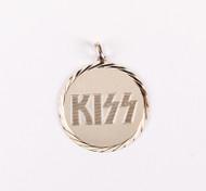 KISS Pendant - Round Logo, (no chain)