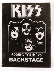 KISS Sticker - 75 Backstage, (reproduction)