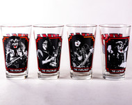 KISS Pint Glass Set - Frames, (set of 4)