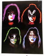 KISS Postcard - JUMBO Solo Faces