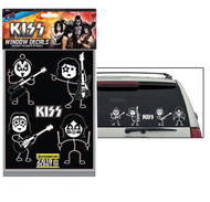 KISS Rub-On Decal - KISS Family Car Window Decals, (2 sheets, 10 decals)