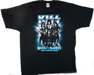 KISS T-Shirt - Rock the Nation, blue with tour dates, (size 2XL)