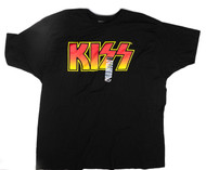 KISS T-Shirt - KISS Logo Orange/Yellow, (size 2XL)