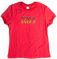 KISS T-Shirt - Red Logo, JUNIOR GIRLS, (size L)