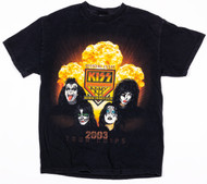 KISS T-Shirt - Gold Corps Access Ticket Club 2003, (size M, washed and worn)
