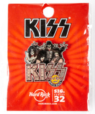 KISS Hard Rock Cafe Pin - Signature Series on red card, Myrtle Beach