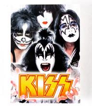 KISS Postcard - Gold Logo Group