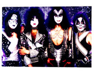 KISS Sticker - Reunion Group, purple