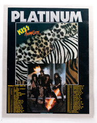 "KISS Ad - Animalize album w/tour dates, laminated, 11"" x 17"""
