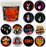 KISS Buttons - KISS Bucket O' Buttons, 144 pieces