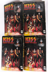 KISS Mego Doll Figures '77 - set of 4  w/boxes