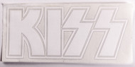 KISS Rub-On Decal - Logo, white