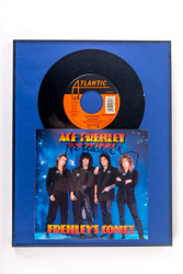 KISS Autograph - Ace Frehley Framed Frehley's Comet 45 rpm record