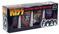 KISS Pint Glass Set - Albums Set, (double sided)
