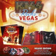 "KISS Blu Ray - KISS Rocks Vegas Blu Ray + CD, 12"" x 12"" hard-cover DELUXE VERSION"