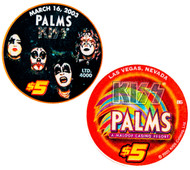 KISS Casino Poker Chip - $5 Palms Hotel, First Album