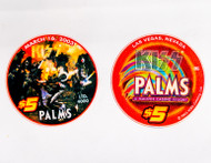 KISS Casino Poker Chip - $5 Palms Hotel, Alive!