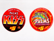 KISS Casino Poker Chip - $5 Palms Hotel, Logo