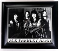 KISS Autograph - Ace Frehley Band, framed 8x10