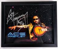 KISS Autograph - Ace Frehley Starfield, framed 8x10