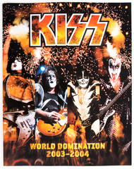 KISS Tourbook - World Domination '03, (TEAR ON COVER)