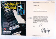 KISS Paul Stanley DiMarzio Guitar Endorsement Paperwork