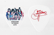 KISS Guitar Pick - Freedom to Rock Flag, Gene