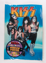 KISS Sticker - Window Poster, (removable).