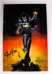KISS Photo - Destroyer art, Gene, signed by artist Ken Kelly