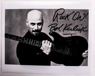 Bob Kulick Autograph - B&W Photo
