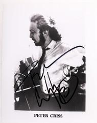 KISS Autograph - Peter Criss B&W photo