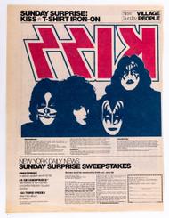 KISS Newspaper Ad - NY Daily News Dynasty Iron-on, 1979