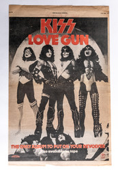 KISS Newspaper Ad - New Musical Express, KISS Love Gun ad