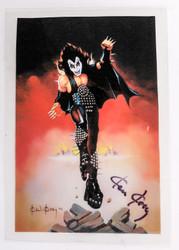 KISS Photo - PRE-Destroyer art, Gene, signed by artist Ken Kelly